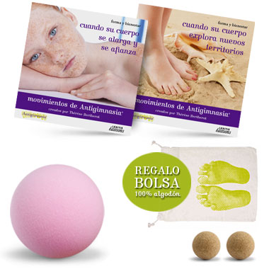 Kit 2 CD + 3 pelotas  Antigym en casa