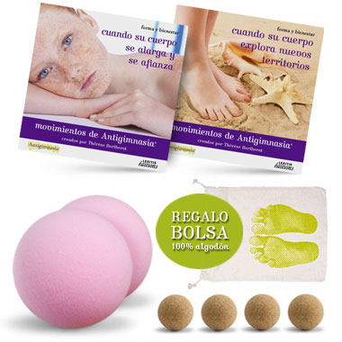 Kit 2 CD + 6 pelotas Antigym en casa